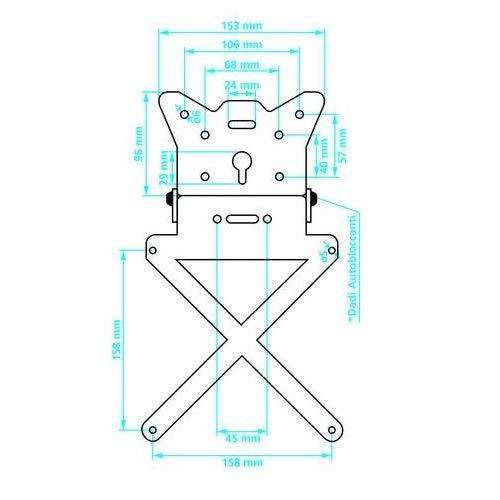 pour Yamaha FZ6 600 KIT pour Motocyclette Porte-Plaque Universel+Support+R/ÉFLECTEUR+LUMI/ÈRE LAMPA Produits APPROUV/ÉS ET COMPATIBLES