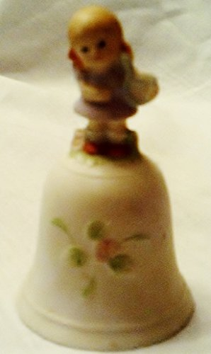 Vintage Collectible Homco Table Bell with Girl Playing Violin