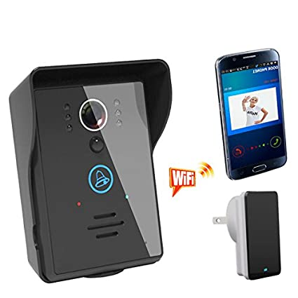 [Wifi Video Doorbell] Anysun® Rainproof Touch Key Wireless Wifi Video  Visual Door Phone