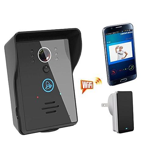 [Wifi Video Doorbell] Anysun® Rainproof Touch Key Wireless Wifi Video Visual Door Phone Doorbell Intercom System Home Security for Iphone Samsung ...