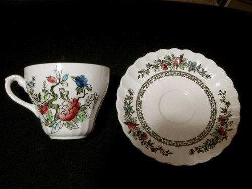 J&G Meakin Classic White Kashmir China Cup and Saucer