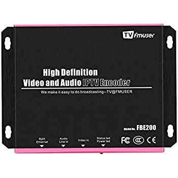 FMUSER H 264 / H 265 HDMI HEVC IPTV Encoder, HD Video Encoder, Support HLS  M3U8 ffmpeg VLC, HTTP RTSP RTMP UDP ONVIF for YouTube, Facebook, Wowza