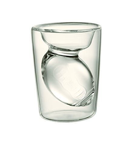 Fantasy Football Shot Glass, Set of 2 Glasses With Hollow Football Design Inside