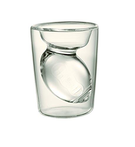 Fantasy Football Shot Glass, Set of 2 Glasses With Hollow Football Design Inside