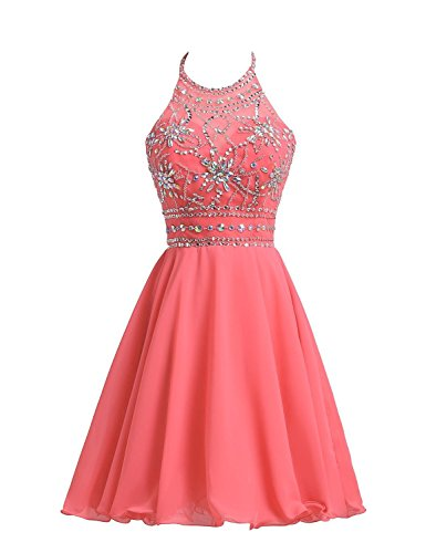 Belle House Short Chiffon Homecoming Dresses for Juniors Halter Prom Party Gowns