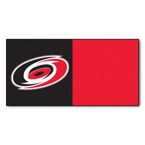 Price comparison product image FANMATS NHL Carolina Hurricanes Nylon Face Team Carpet Tiles