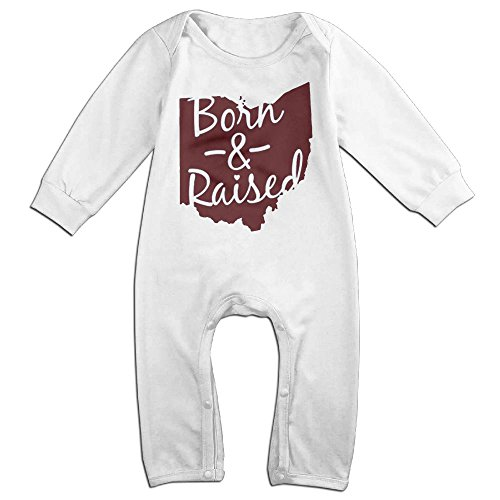 Crystal MOO Ohio Born and Raised Funny Unisex Baby Onesie Long Sleeve - Eyeglass Store Nyc