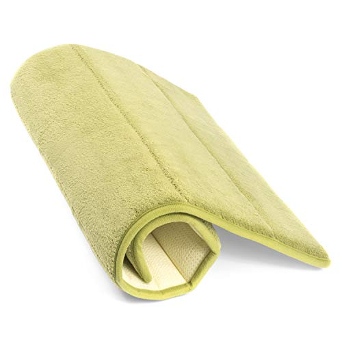 Simple Deluxe Sage Green Bath or Kitchen Mat, Memory Foam Rug, Non Slip Backing, Washable, Absorbent Alfombras para Baños