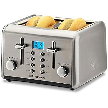 Amazon Com Toastmaster Stainless Steel 4 Slice Toaster
