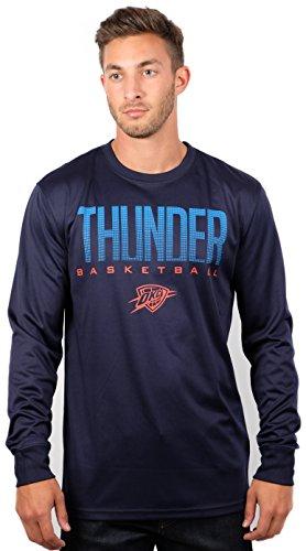 UNK NBA Men's T Athletic Quick Dry Long Sleeve Tee Shirt, Navy, Medium