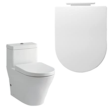 square shaped toilet seat. OUTAD White D Shape Toilet Seat Soft Close Square Shaped For Home Hotel  Bathroom