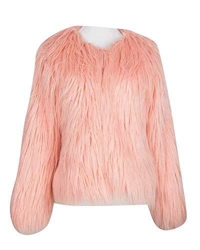 Alta Giacca Di Huixin Pelliccia Invernali Pelliccia Caldo Cappotto Costume Qualità Lunga Pink Manica Donna Corto Di Giaccone Di Pelliccia Sintetica Cappotto Lanuginoso Monocromo Elegante Hr84SqHAw