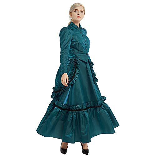 GRACEART Steampunk Girl Costume Edwardian Dress Suits with Bustle Top and Skirt (6) -