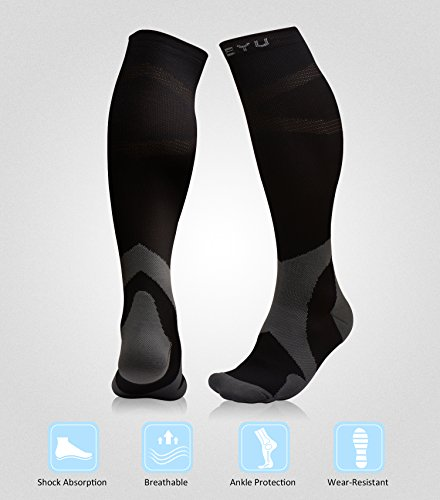 Atist Compression Socks for Women & Men, 20-30 mmHg, Crossfit, Boost Calf Muscle Performance & Stamina, Black, L/XL by Atist (Image #2)