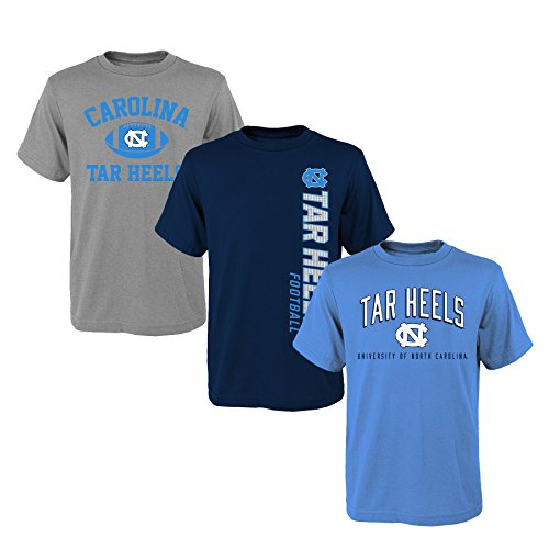 - Outerstuff NCAA Youth Boys 8-20 NORTH Carolina 3Piece Tee Set, M(10-12), Assorted