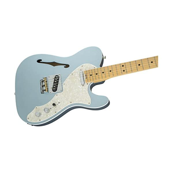 Fender 0114312762 American Elite Telecaster Thinline Maple Fingerboard Electric Guitar – Mystic Ice Blue