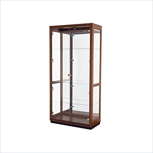 American Drew 598149 Display Cabinet with Glass Doors, Brown