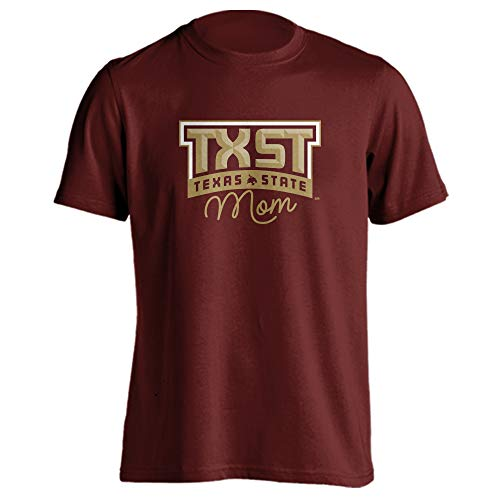 (Sport Your Gear Texas State Bobcats Mom Proud Parent T-Shirt (Maroon, M))