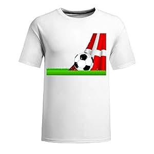 Custom Mens Cotton Short Sleeve Round Neck T-shirt,2014 Brazil FIFA World Cup Soccer Czech navy