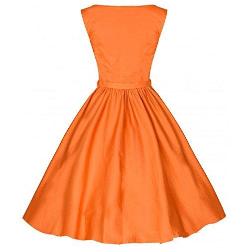puro oscilación naranja Un hombro correa impresión Audrey de y vestidos vestido palabra retro Hepburn color noche delgado mangas de DaBag libre de sin waqxdHw5