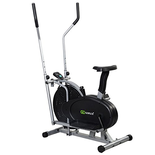 Goplus® 2 IN 1 Elliptical Bike Exercise Workout Home Cross Trainer Machine