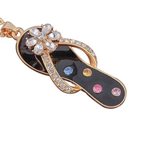 Women Necklace,kaifongfu Hot Creative Rotation Necklace Style With Diamond Slippers Rotating (F) - Hot Diamonds Diamond Necklace