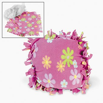 Fleece Flower Tied Pillow Craft Kit ()