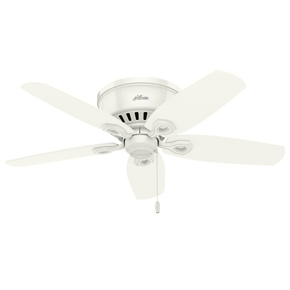 Hunter 51090 42 Builder Low Profile Ceiling Fan With Light Snow White Com
