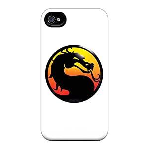 New Style Tpu 4/4s Protective Case Cover/ Iphone Case - Mortal Kombat Logo