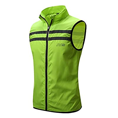 Bpbtti Men's Hi-Viz Safety Running Cycling Vest - Windproof Reflective
