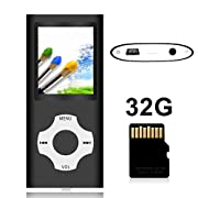 #LightningDeal Tomameri - Portable MP3 / MP4 Player with Rhombic Button, Including a Micro SD Card and Support Up to 64GB, Compact Music, Video Player, Photo Viewer Supported - Black