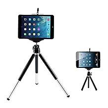 Aluminum Camera Tripod Monopod Mount Holder Stand for iPad Mini 4 3 2 1-black