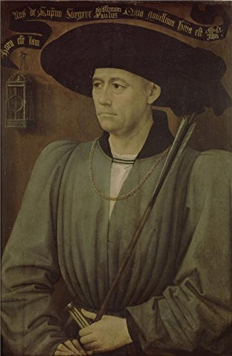 Oil Painting 'Rogier Van Der Weyden,Portrait Of A Tournament Judge,ca.1399-1464' 8 x 12 inch / 20 x 31 cm , on High Definition HD canvas prints is for Gifts And Bed Room, Garage And Study Room decor