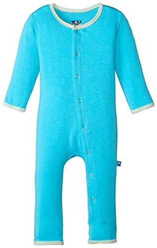 KicKee Pants Baby Boys Solid Coverall Prd-kpca212-ciao, Confetti with Aloe, 0-3 Months