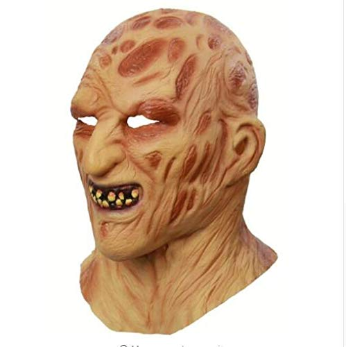 Scary Bloody Chef Horror Latex Mask Halloween Costume Masquerade Party Props for Adults (Yellow 02)]()