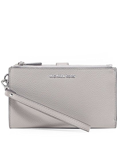 Michael Kors Adele Double Zip Wristlet - Pearl Grey by Michael Kors