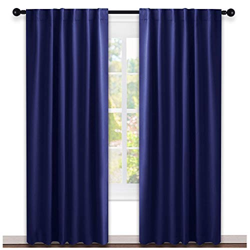 NICETOWN Window Treatment Blackout Curtains and Draperies - (Royal Navy Blue Color) 52