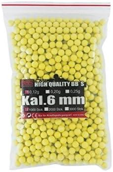 g8ds BGS Marca munición 6mm, Softair, 1000Unidades, Color Verde Pulido