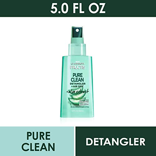Garnier Hair Care Fructis Pure Clean Detangler + Air Dry, No Tangles or Frizz, Silicone Free and Paraben Freem Made With…