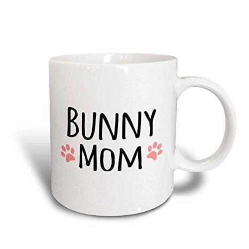 3dRose 154044_6 Bunny Mom Mug, 11 oz, Blue