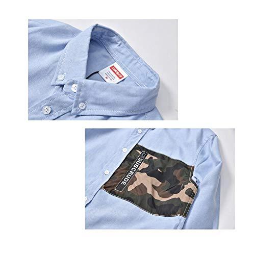 Go Uomo Easy Shopping Da A Blue Camicia Camouflage Slim Lunghe Maniche p8B8w