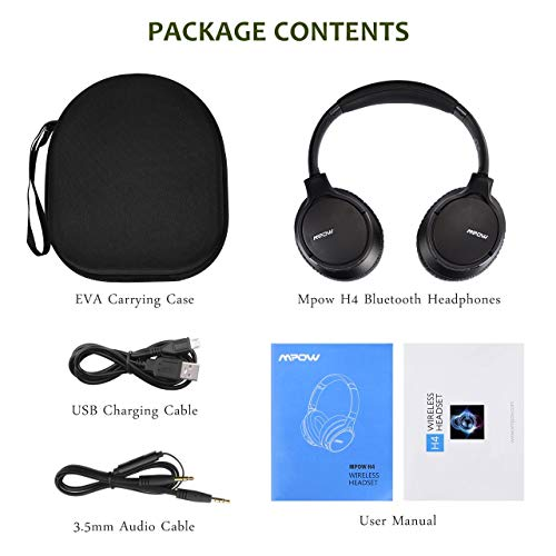 Mpow [Upgraded] H4 4 2 Bluetooth Headphones Over Ear, with
