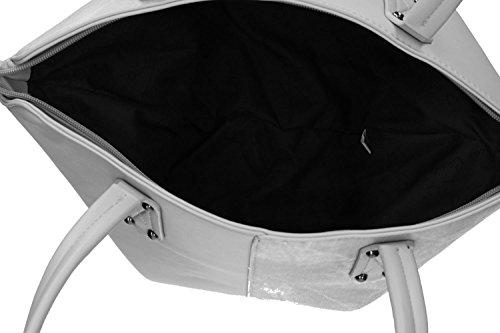 Tasche damen schulter PIERRE CARDIN grau ffnung zip VN1408