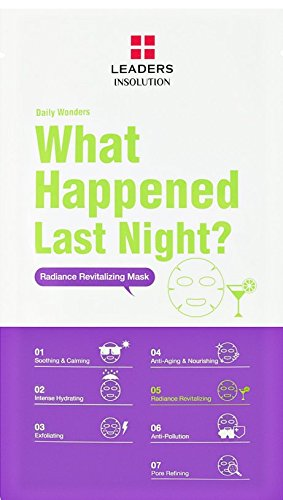 [LEADERS] Daily Wonders What Happened Last Night? Radiance Revitalizing Mask / 1 Box (10 Sheet Masks)