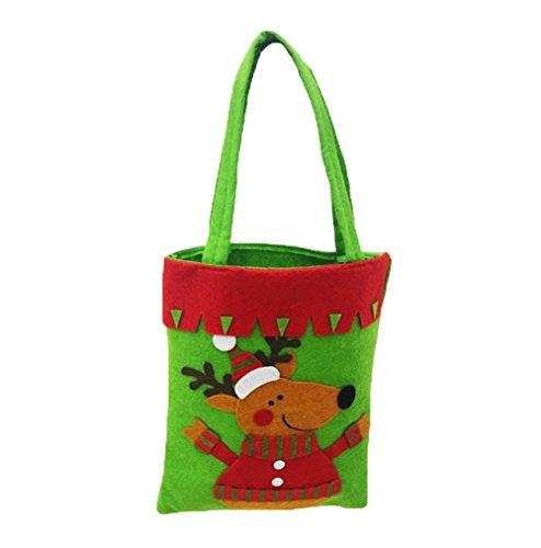 wa À Bonbons De Faits Da Sac Sacs Décoration Main Des cadeaux Noël Vert Épais La qawvUd