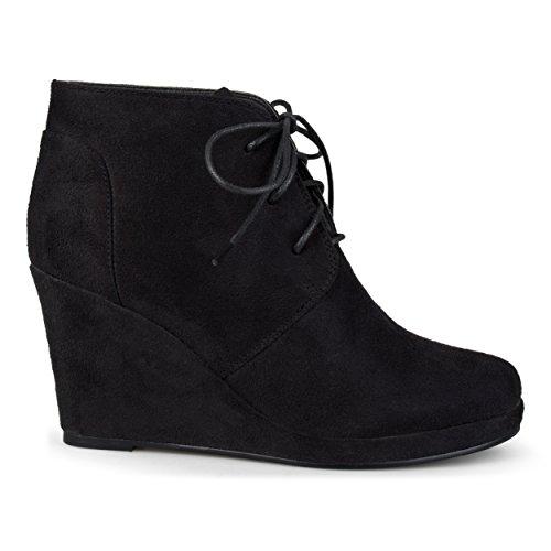 Brinley Co Women's Exit Ankle Boot, Black, 8 Regular US