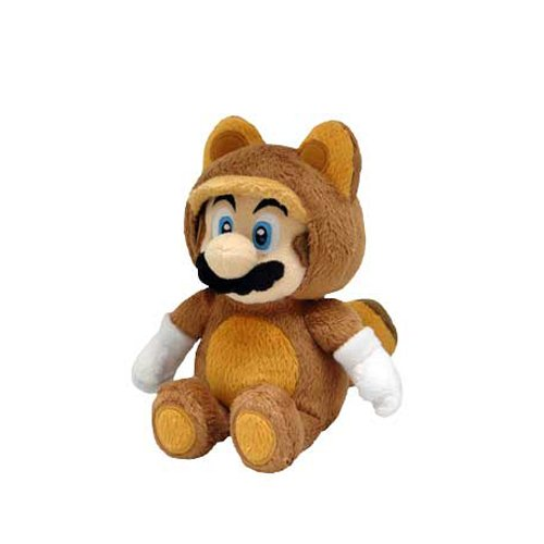 Little Buddy Official Super Mario Plush Raccoon Tanooki Mario, 9-Inch -