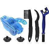 Feeko Bike Chain Cleaner, 4pcs Bicycle Chain Brush Chain Gear Cleaning Kit Maintenance Care Cleaning Road Bike Mountain Bike Blue