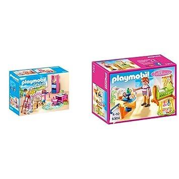 Playmobil 9270 - Fröhliches Kinderzimmer & 5304 - Babyzimmer mit ...