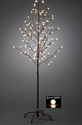 free shipping 2dd92 849a7 Large 5ft Pre-Lit Light up 200 Berry LED Cherry Blossom Tree Christmas Xmas  1.5m (Warm White)